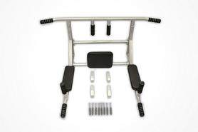 Фото 2 к товару Турник-брусья настенный Sportko 3 в 1 с мягкими ручками серый