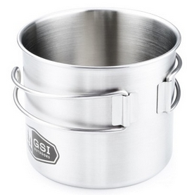Фото 2 к товару Кружка GSI Outdoors Glacier Stainless Bottle Cup/Pot 600 мл