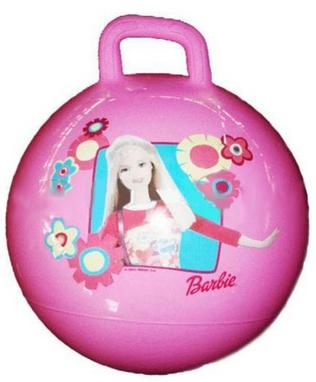 Мяч попрыгун с ручкой Disney 45 см розовый