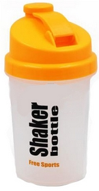 Шейкер Smart Shake 500 мл бело-оранжевый