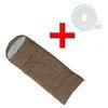 Мешок спальный (спальник) Mountain Outdoor коричневый + подарок - фото 1