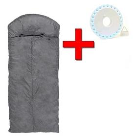 Мешок спальный (спальник) Mountain Outdoor серый широкий + подарок