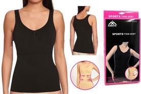 Фото 1 к товару Майка утягивающая (корректирующая) Control Bodysuit Thin vest ST-9161 черная