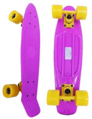 Скейтборд Penny Original Fish SK-401-18 фиолетовый/желтый