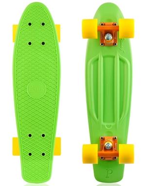 Скейтборд Penny Color Point Fish SK-403-10 зеленый/оранжевый/желтый