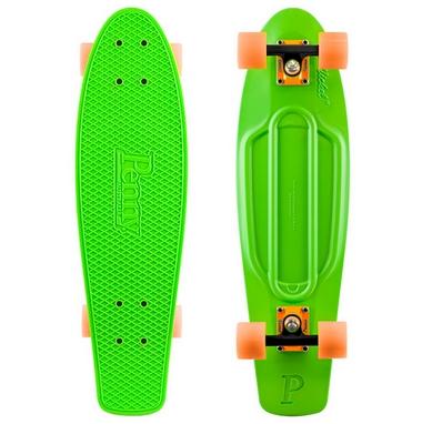 Скейтборд Penny Color Point Fish SK-403-11 зеленый/черный/оранжевый