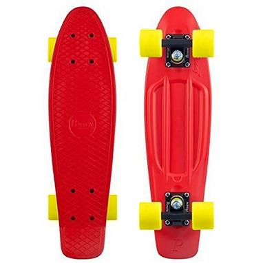 Скейтборд Penny Color Point Fish SK-403-12 красный/черный/желтый