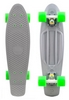 Скейтборд Penny Color Point Fish SK-403-15 серый/белый/зеленый - фото 1
