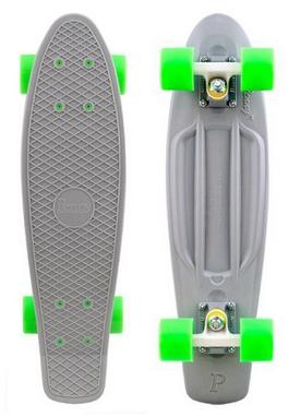 Скейтборд Penny Color Point Fish SK-403-15 серый/белый/зеленый