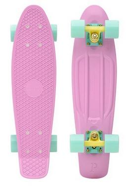 Скейтборд Penny Color Point Fish SK-403-2 розовый/желтый/зеленый