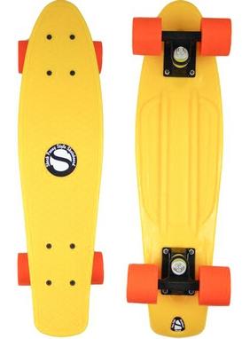 Пенни борд Penny Color Point Fish SK-403-3 желтый/черный/оранжевый