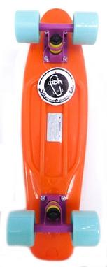 Пенни борд Penny Color Point Fish SK-403-6 оранжевый/фиолетовый/зеленый