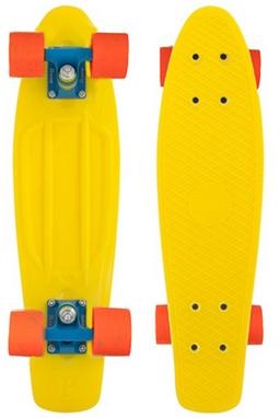 Пенни борд Penny Color Point Fish SK-403-8 желтый/синий/оранжевый
