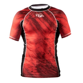 Фото 1 к товару Рашгард Peresvit Immortal Silver Force Rashguard Short Sleeve Red Burn