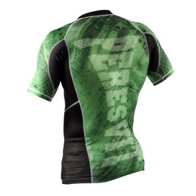 Фото 2 к товару Рашгард Peresvit Immortal Silver Force Rashguard Short Sleeve Green Lantern