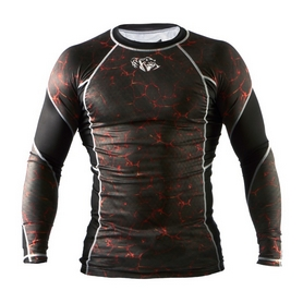 Фото 1 к товару Рашгард Peresvit Immortal Silver Force Rashguard Long Sleeve Lava
