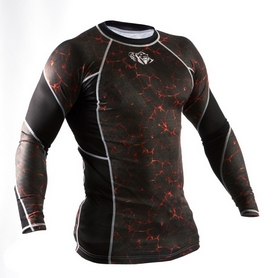 Фото 3 к товару Рашгард Peresvit Immortal Silver Force Rashguard Long Sleeve Lava