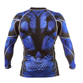 Фото 2 к товару Рашгард Peresvit Beast Silver Force Rashguard Long Sleeve Blue
