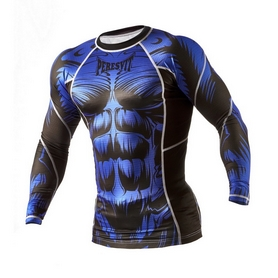 Фото 3 к товару Рашгард Peresvit Beast Silver Force Rashguard Long Sleeve Blue