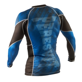 Фото 2 к товару Рашгард Peresvit Immortal Silver Force Rashguard Long Sleeve Dark Marine
