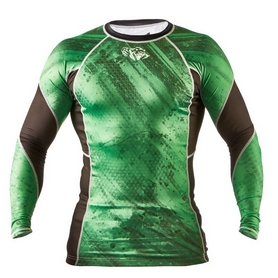 Фото 1 к товару Рашгард Peresvit Immortal Silver Force Rashguard Long Sleeve Green Lantern