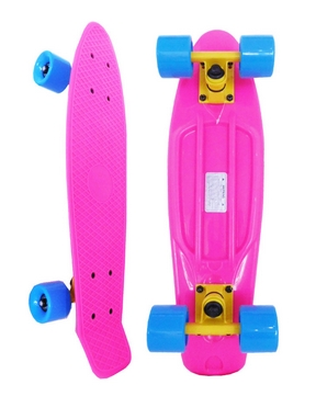 Скейтборд Penny Original Fish SK-401-19 розовый/желтый/синий