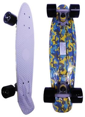 Скейт Penny Board Kamuflage Yellow Fish