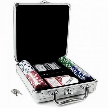 Набор для игры в покер 100 фишек по 11,5 г (алюминиевый кейс)