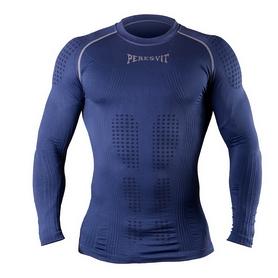 Футболка компрессионная с длинным рукавом Peresvit 3D Performance Rush Compression T-Shirt Navy