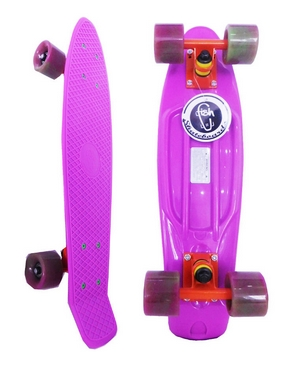 Пенни борд Penny Swirl Fish SK-404-1 фиолетовый