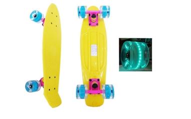 Скейтборд Penny Wheels Fish SK-405-1 желтый