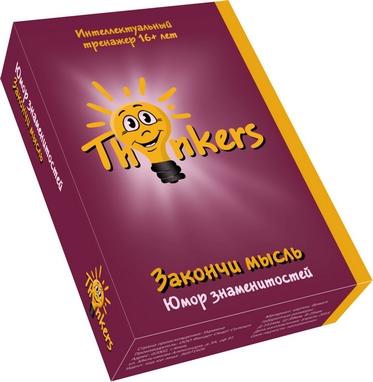 Игра настольная Thinkers 16+. Закончи мысль