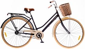 "Велосипед Dorozhnik Comfort Female 14G Velosteel St 28"" 2016 с багажником черный, рама 19"""