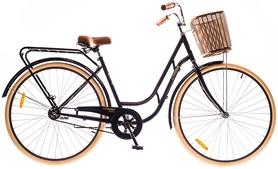 """Велосипед городской Dorozhnik Retro 14G Velosteel St с багажником 28"""" 2016 черный, рама 19"""""""