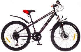 """Велосипед подростковый Formula Dakar AM 14G DD St 24"""" 2016 черно-красный, рама 13"""""""