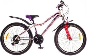 """Велосипед горный подростковый Formula Forest AM 14G Vbr St 24"""" 2016 бело-розовый, рама - 12,5"""""""