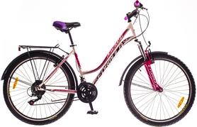 """Велосипед городской Formula Omega AM 14G Vbr St с багажником 26"""" 2016 бело-фиолетовый, рама 18"""""""