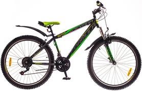"""Велосипед горный Formula Nevada AM 14G Vbr St 26"""" 2016 черно-зеленый, рама 13"""""""