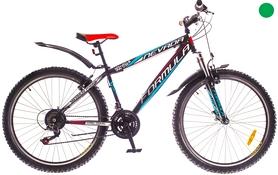 """Велосипед горный Formula Nevada AM 14G Vbr St 26"""" 2016 черно-красный с зеленым, рама 13"""""""