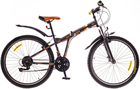 "Велосипед горный складной Formula Hummer AM 14G Vbr St 26"" 2016 серый, рама 15"""