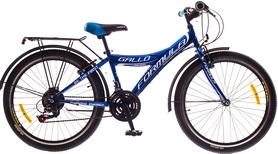 """Велосипед детский Formula Gallo 14G Vbr St с багажником 24"""" 2016 синий, рама"""