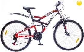 "Велосипед горный Discovery Canyon AM2 14G Vbr St 26"" 2016 черно-желто-белый, рама 19"""