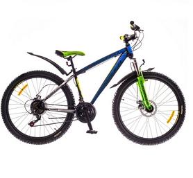 """Велосипед спортивный Formula Blizzard AM 14g DD 26"""" рама 16""""черно-синий с зеленым (м) 2016"""