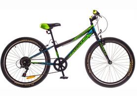 """Велосипед детсткий горный Formula Compass 14G Vbr 24"""" St черно-зеленый (м) 2016, рама - 12"""""""
