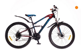 """Велосипед горный Formula Blaze AM2 14G DD 26"""" St серый с оранжевым (м) 2016"""
