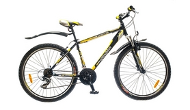 "Велосипед горный Optimabikes Sprinter AM 14G 26"" рама-19"" St  черно-желтый  2015"