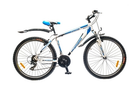"Велосипед горный Optimabikes Sprinter AM 14G 26"" рама-19"" St  бело-синий  2015"