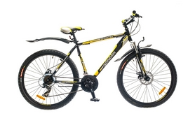 "Велосипед горный Optimabikes Sprinter AM 14G DD 26""  рама-17"" St  черно-желтый  2015"