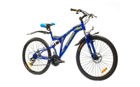 "Велосипед горный Optimabikes Eclipse AM2 14G DD 26"" 2015 сине-жёлтый рама 19"""