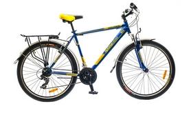 """Распродажа*! Велосипед городской Optimabikes Columb AM 14G St 26"""" 2015 с багажником, сине-жёлтый  рама-19"""""""